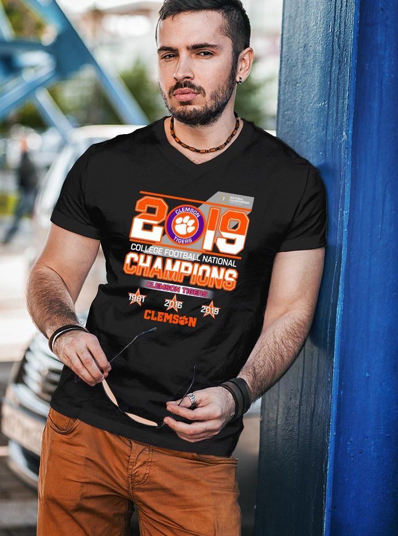 2019 Clemson tigers college football national champions shirt unisex