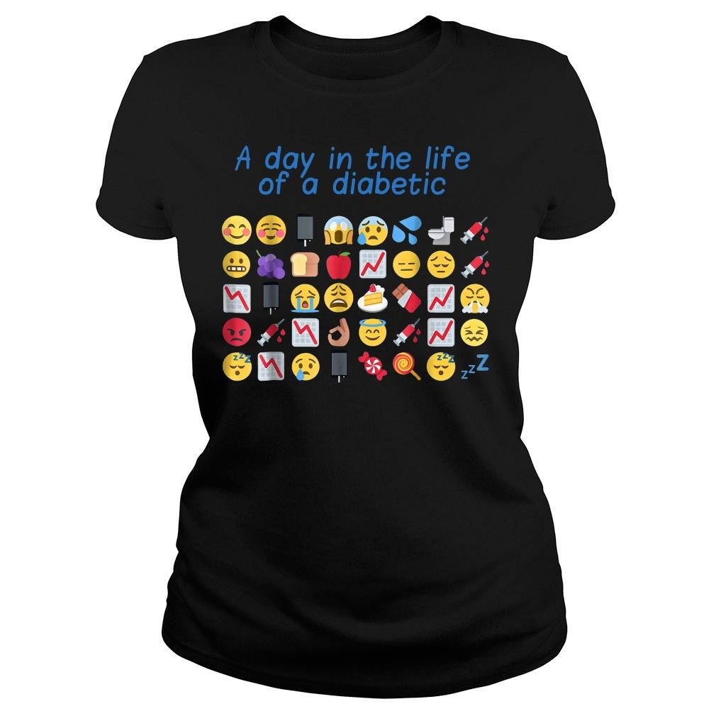 A day in the life of a diabetic shirt ladies tee