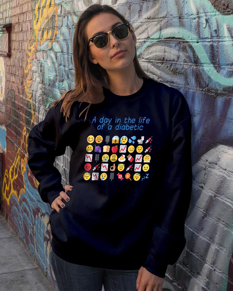 A day in the life of a diabetic shirt sweater official