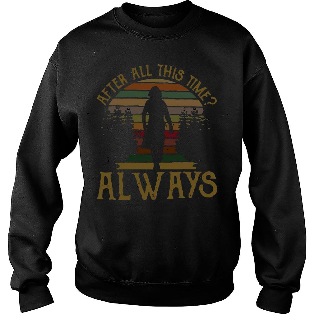 After all this time always retro vintage shirt sweater