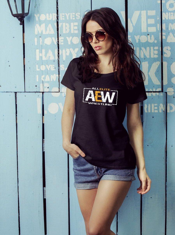 All Elite AEW Wrestling shirt ladies tee official