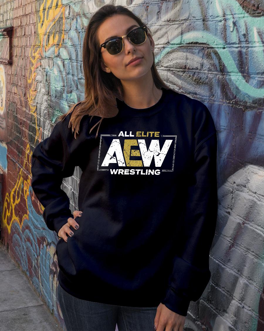 All elite AEW wrestling shirt sweater official