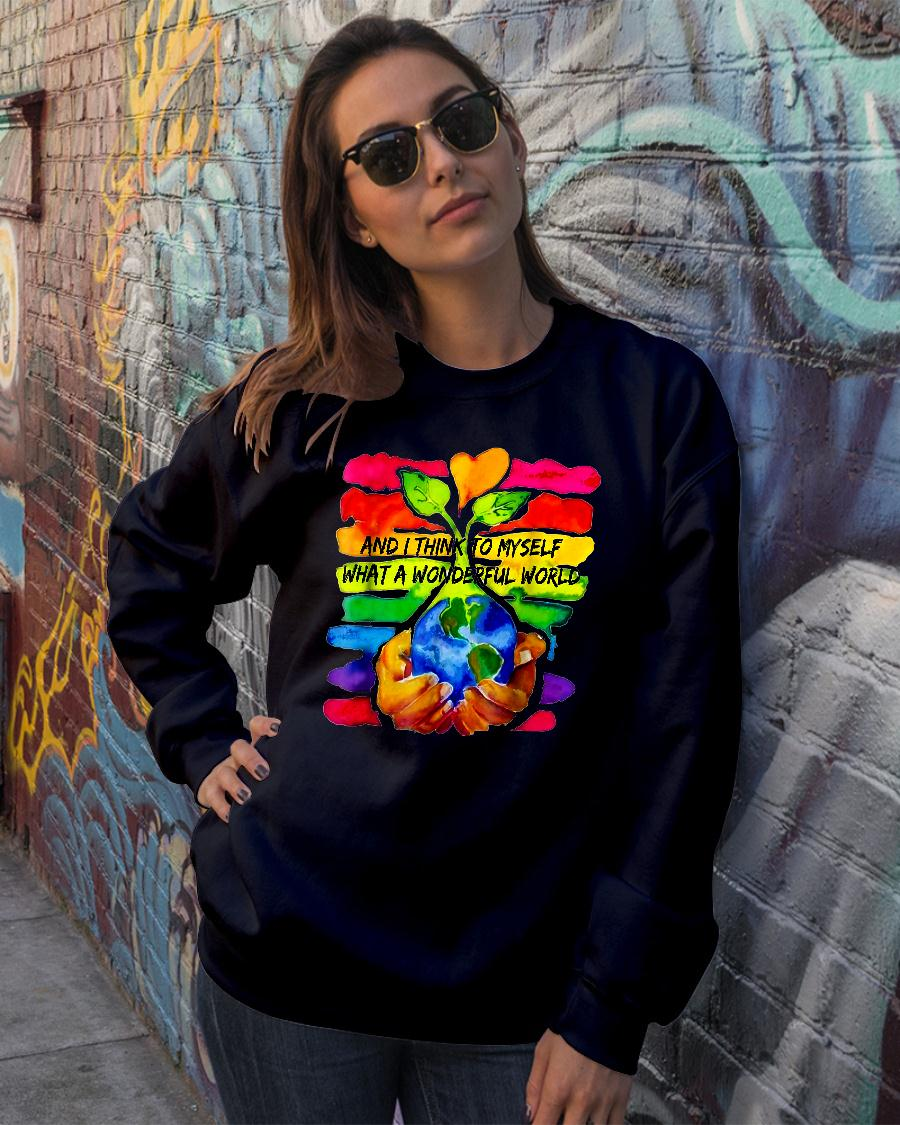 And I Think To Myself What A Wonderful World Shirt sweater official
