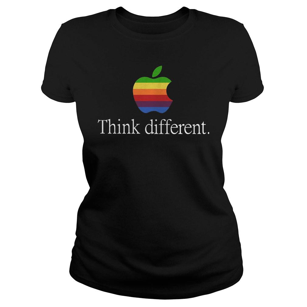 Apple think different shirt ladies tee