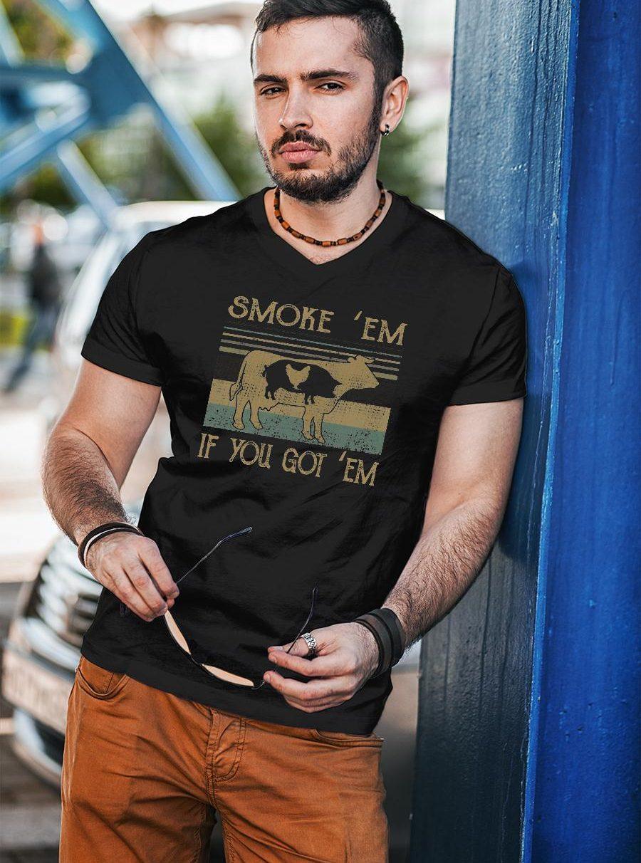 BBQ Grilling Smoke em if you got em shirt unisex