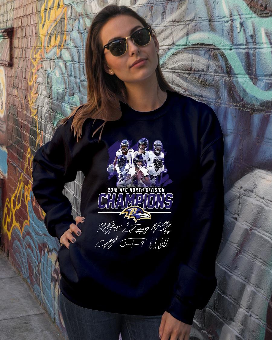 Baltimore ravens 2018 nfc north division champions shirt sweater official