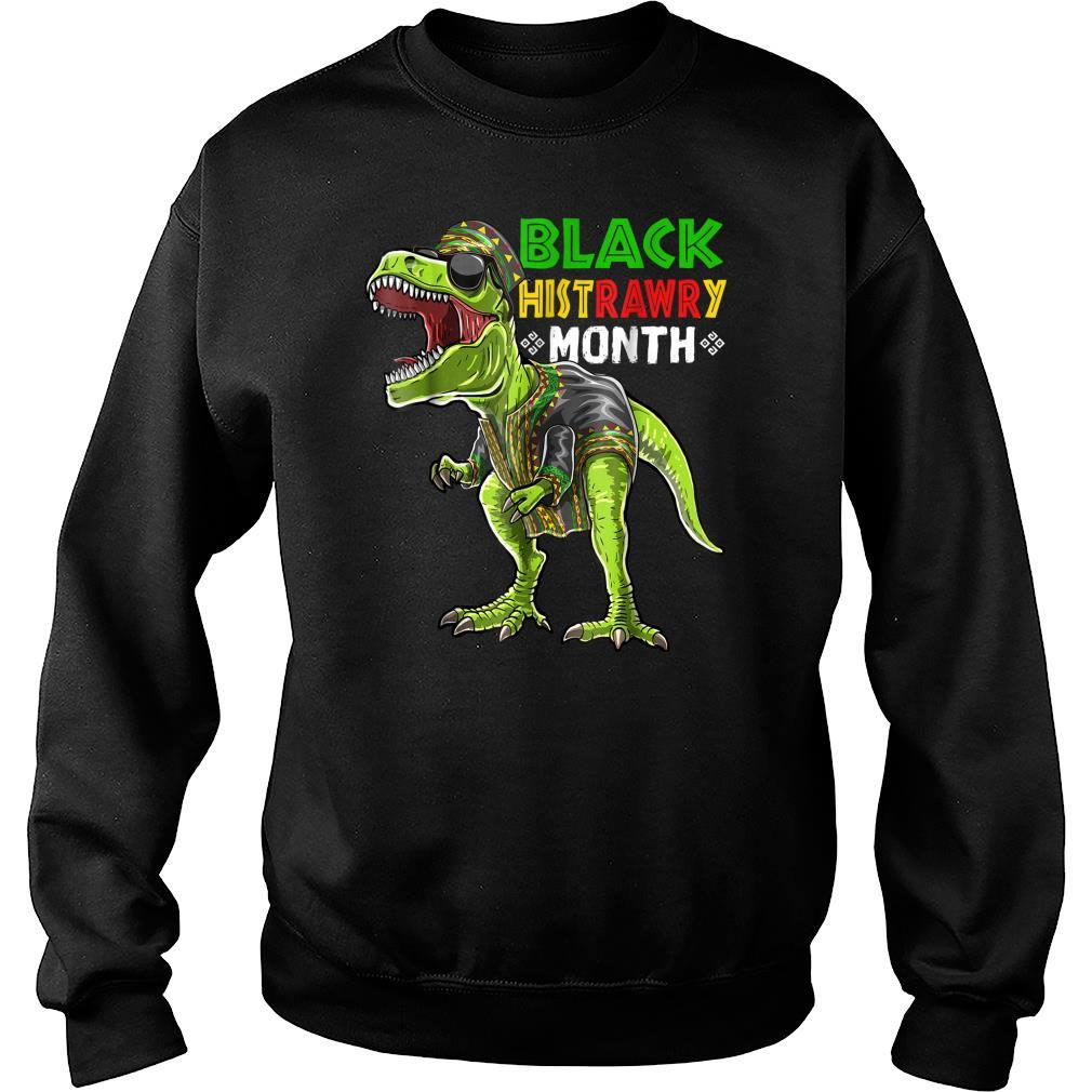Black History Month T Rex Dinosaur African Shirt sweater
