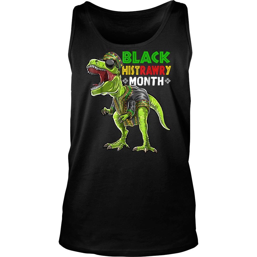 Black History Month T Rex Dinosaur African Shirt tank top