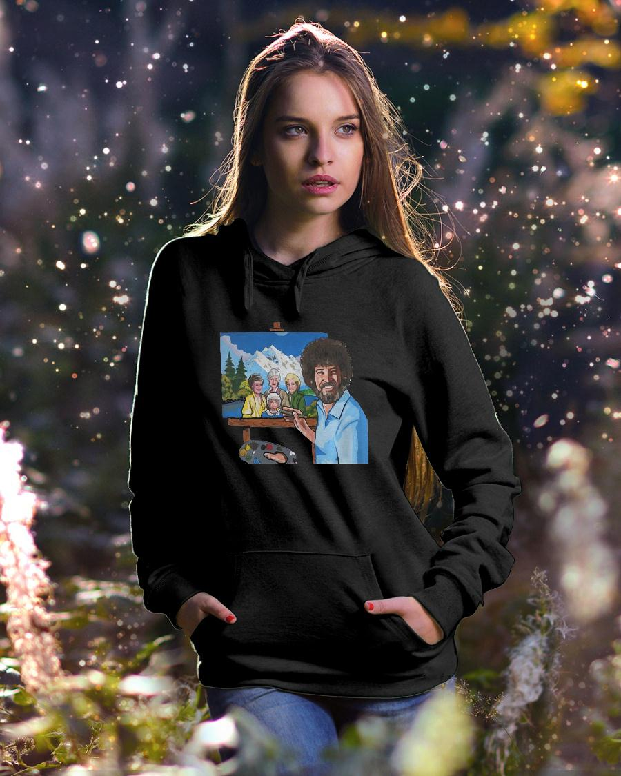 Bob ross painting the golden girl shirt hoodie unisex