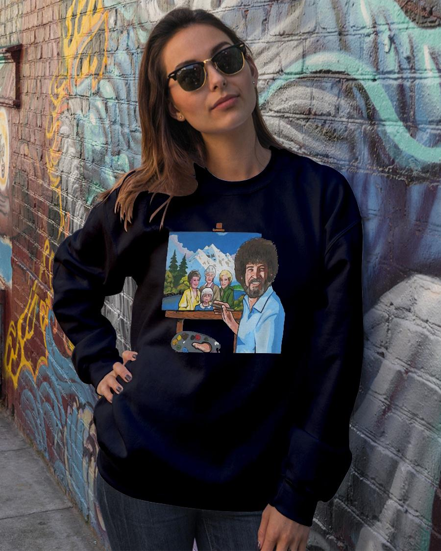 Bob ross painting the golden girl shirt sweater official
