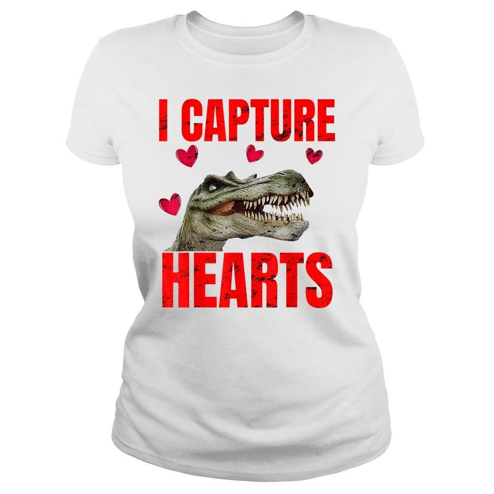 Boys Dinosaur Valentines Day Shirt ladies tee
