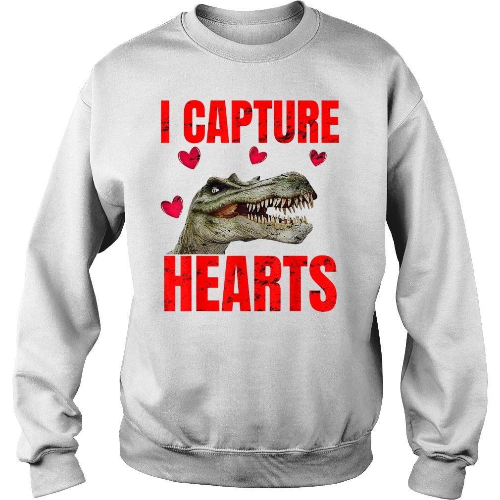 Boys Dinosaur Valentines Day Shirt sweater