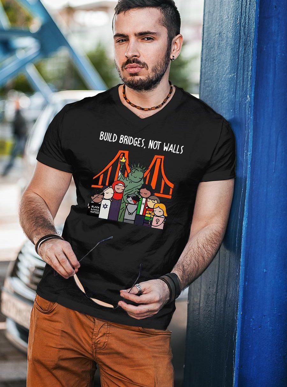 Build Bridges not walls black lives matter shirt unisex