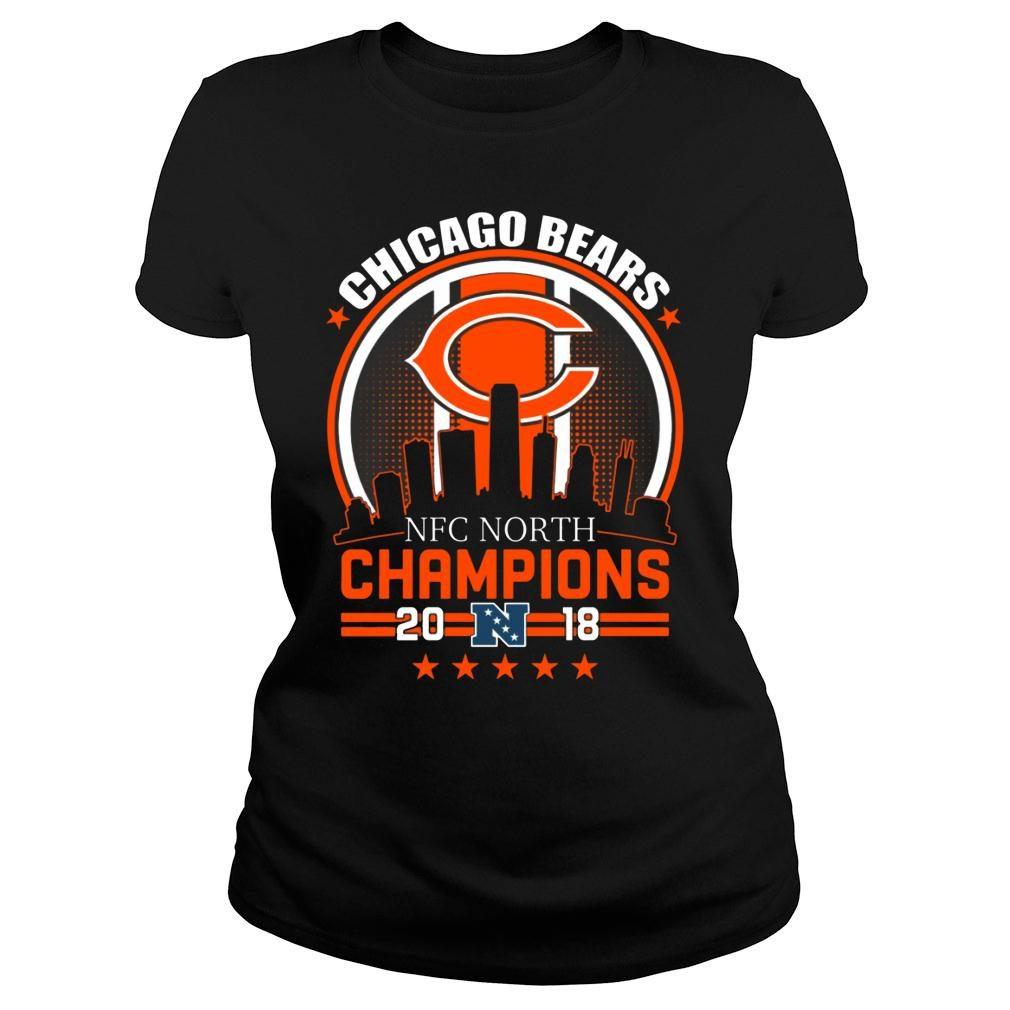 Chicago Bears NFC North Champions 2018 shirt ladies tee