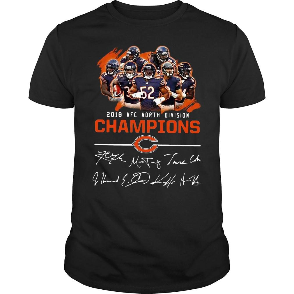 Chicago bears 2018 nfc north division champions shirt