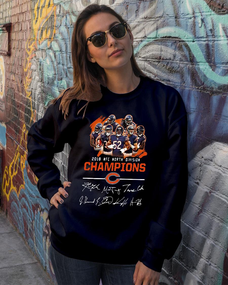 Chicago bears 2018 nfc north division champions shirt sweater official