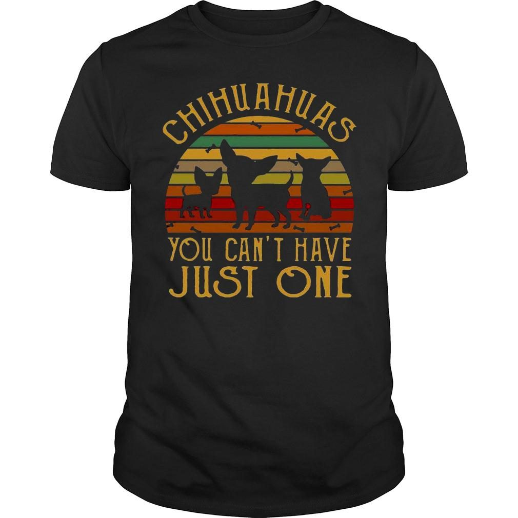 Chihuahuas you cant have just one vintage retro shirt