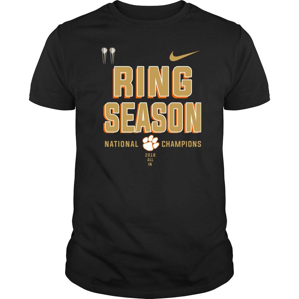 Clemson ring season national champions season 2018 2019 shirt