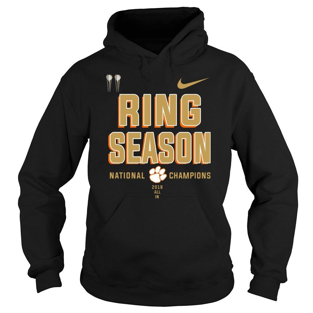 Clemson ring season national champions season 2018 2019 shirt hoodie