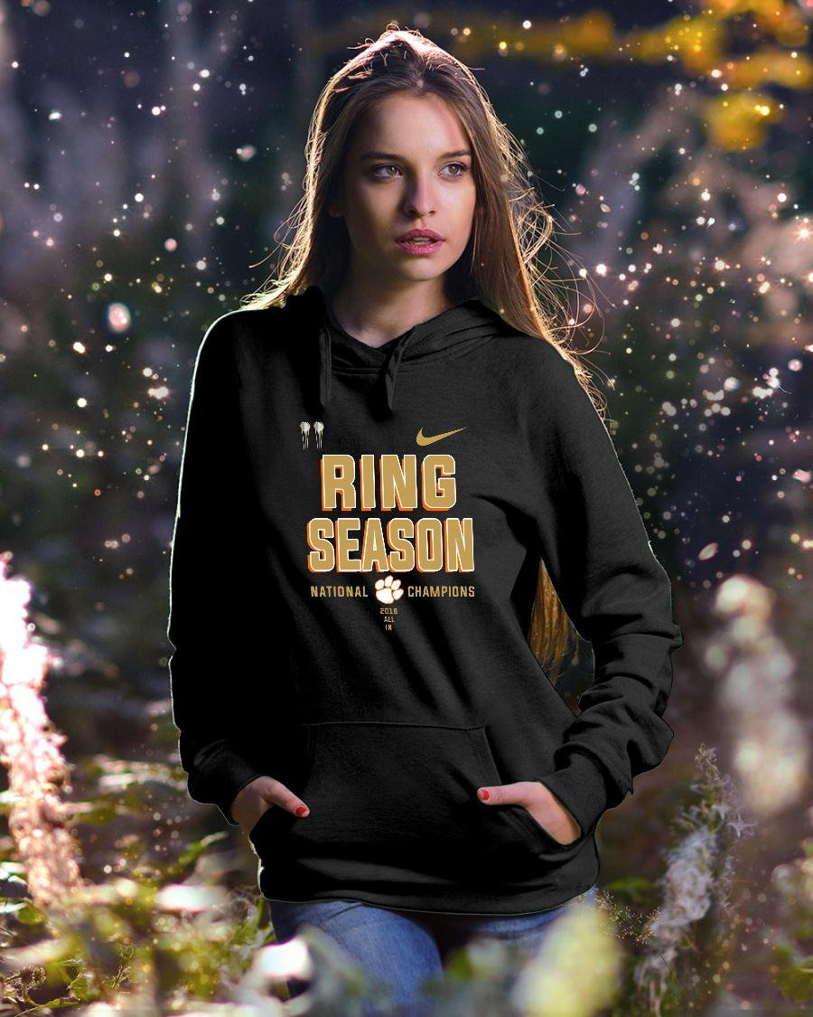Clemson ring season national champions season 2018 2019 shirt hoodie unisex