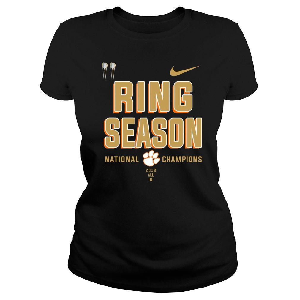 Clemson ring season national champions season 2018 2019 shirt ladies tee
