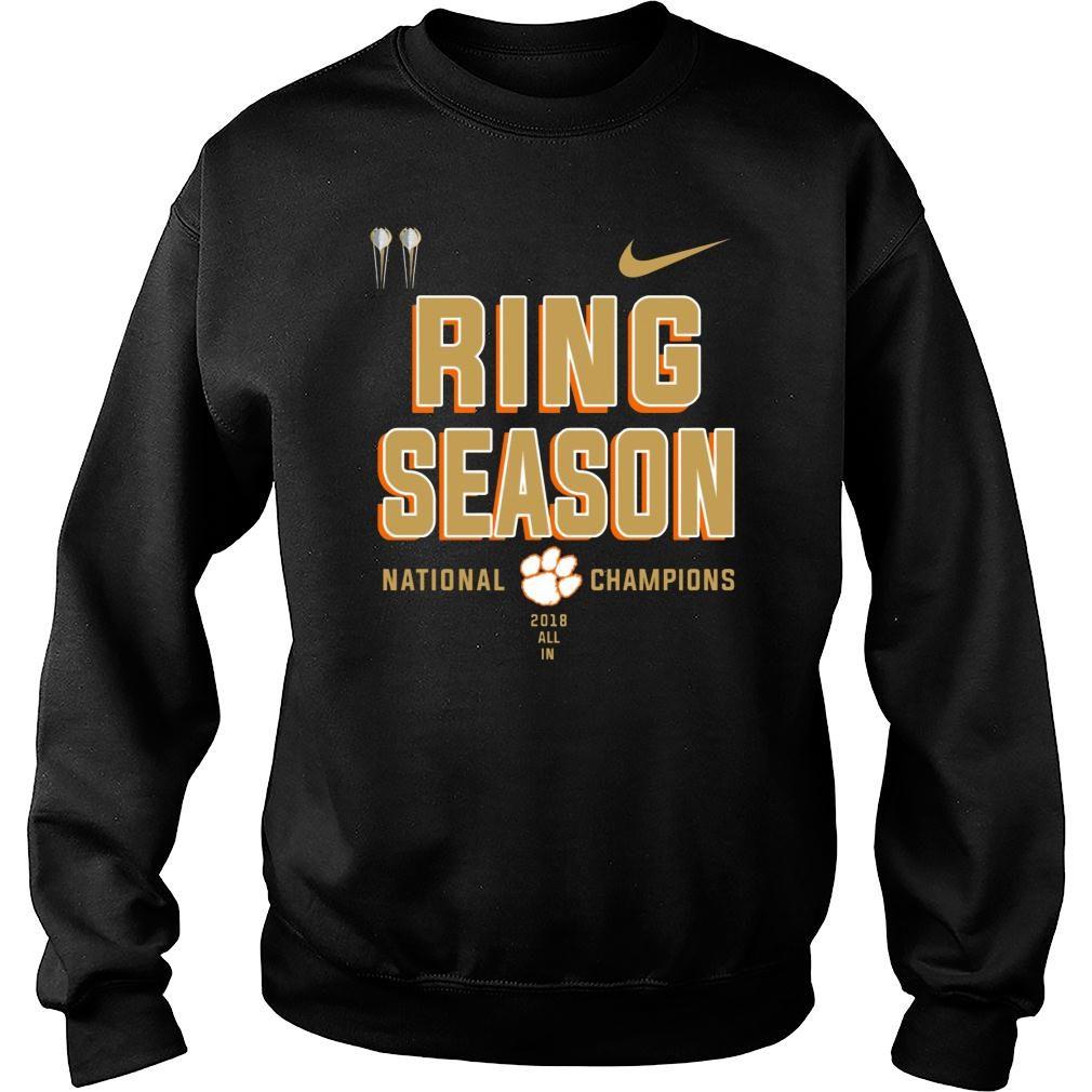 Clemson ring season national champions season 2018 2019 shirt sweater