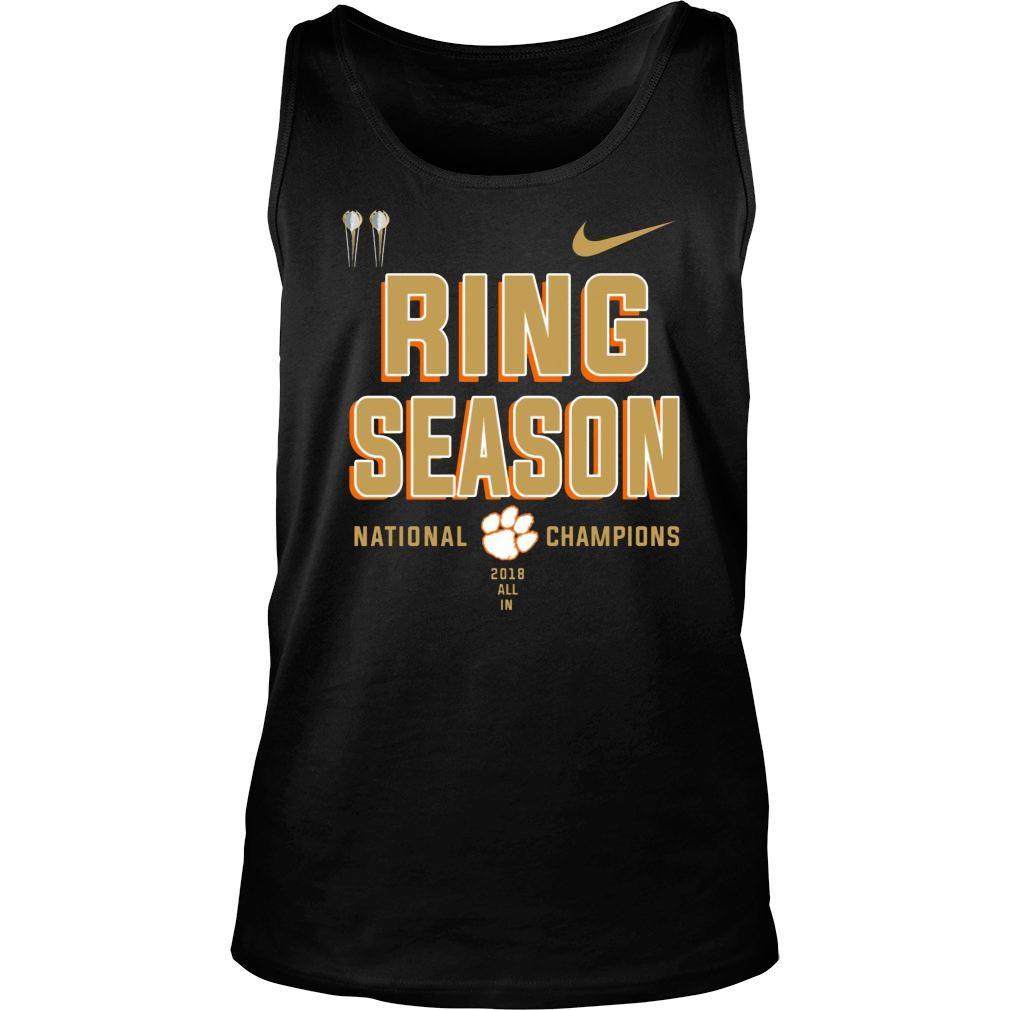Clemson ring season national champions season 2018 2019 shirt tank top
