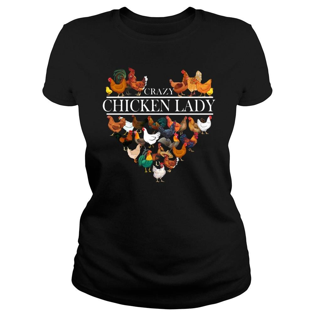 Crazy Chicken Lady shirt ladies tee