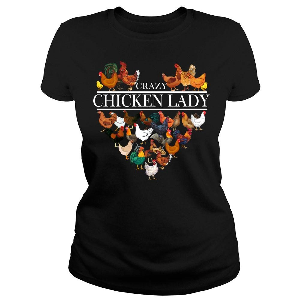 Crazy Chicken Lady shirt ladies tee