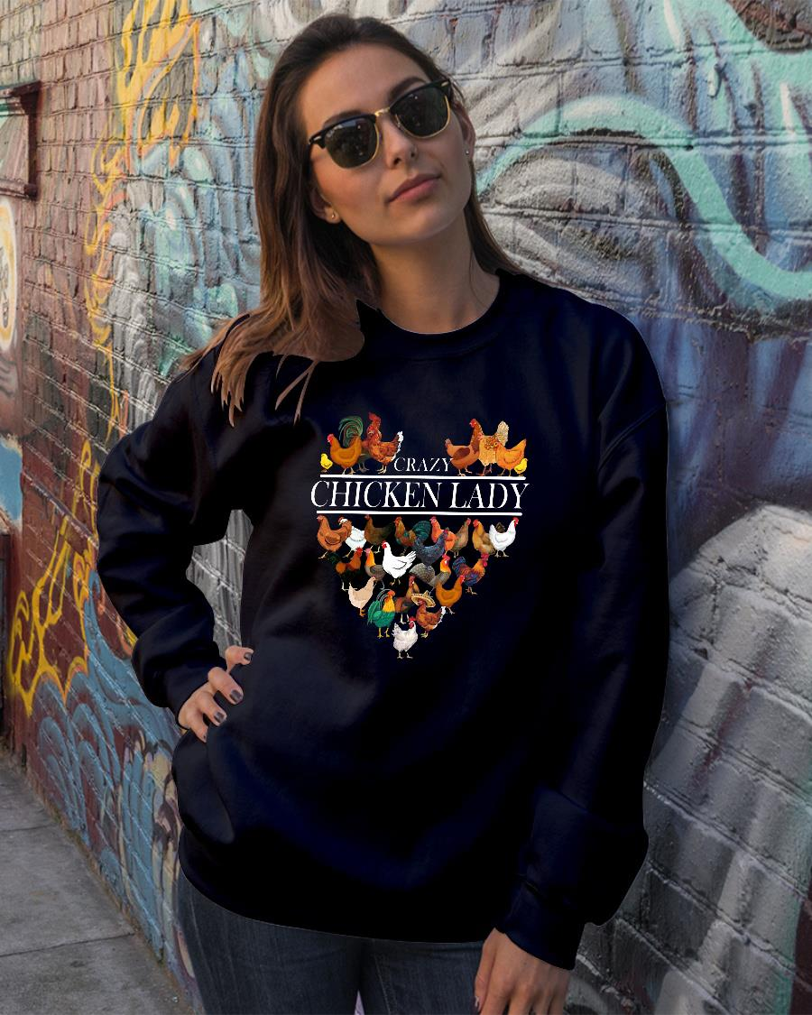 Crazy Chicken Lady shirt sweater official