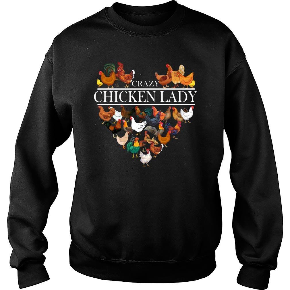 Crazy Chicken Lady shirt sweater