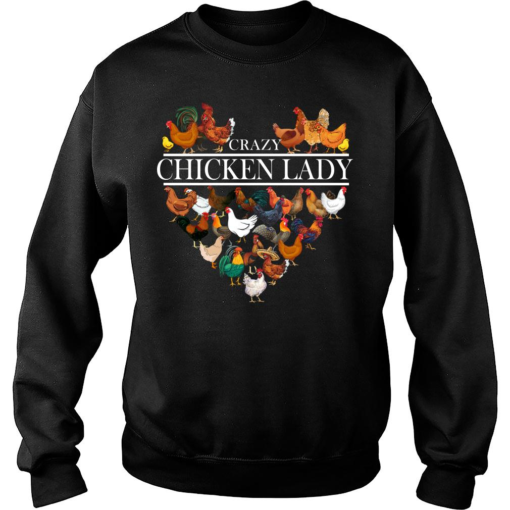 Crazy Chicken Lady shirt sweater