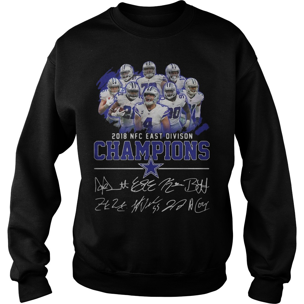 Dallas cowboys team 2018 NFC east division champions shirt sweater