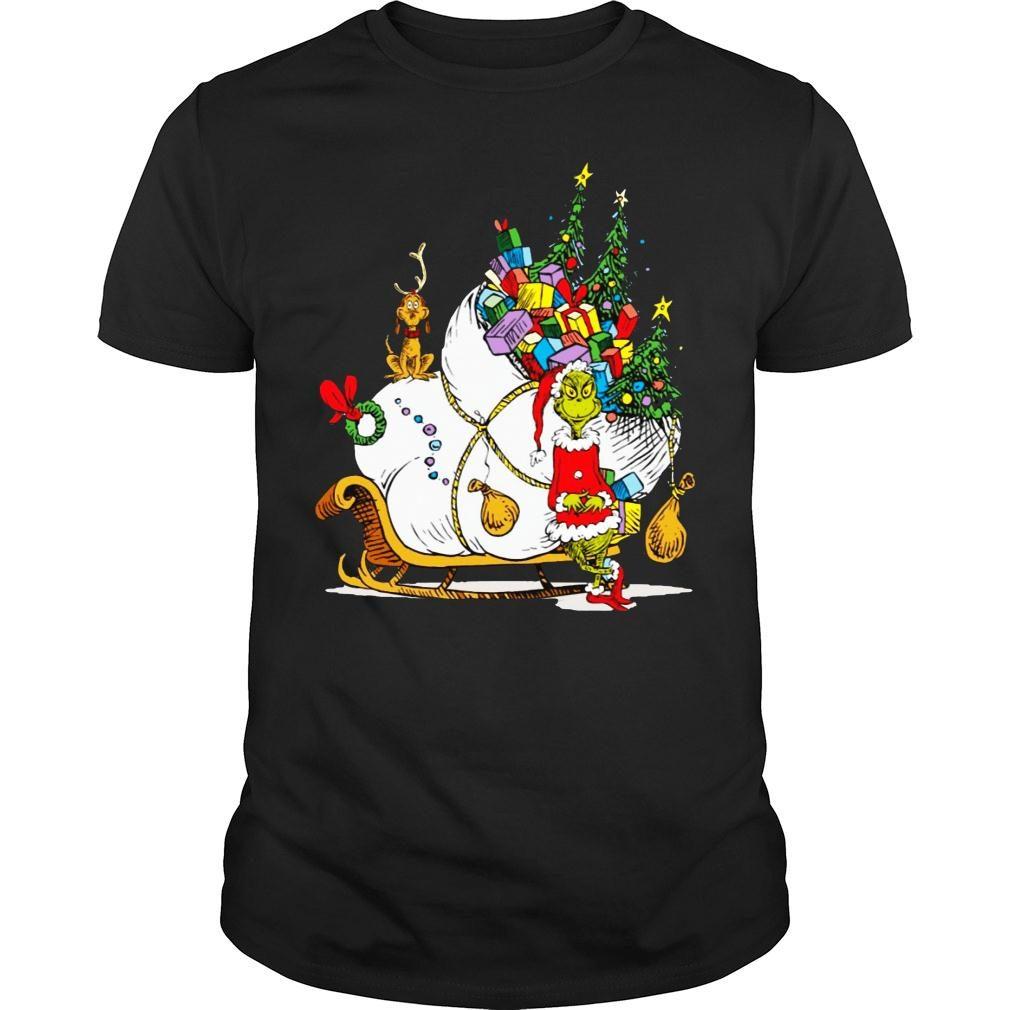 Dr. Seuss Grinch Sleigh Christmas Gift shirt