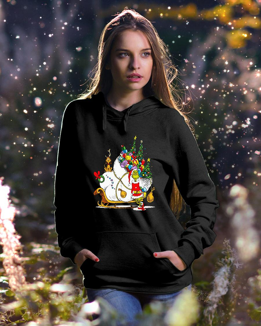 Dr. Seuss Grinch Sleigh Christmas Gift shirt hoodie unisex