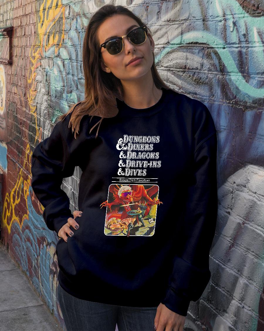 Dungeons and dragons and diners and dives shirt sweater official