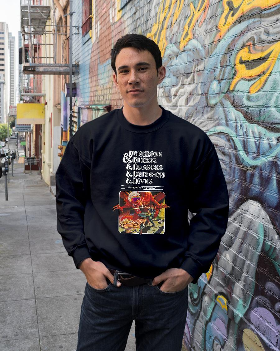 Dungeons and dragons and diners and dives shirt sweater unisex