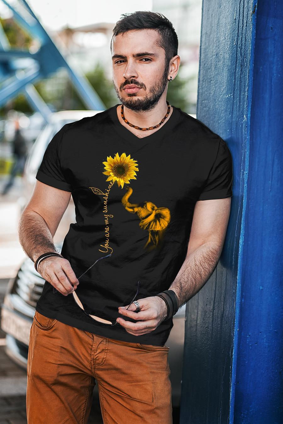 ELephant you are my sunshine sunflower shirt unisex