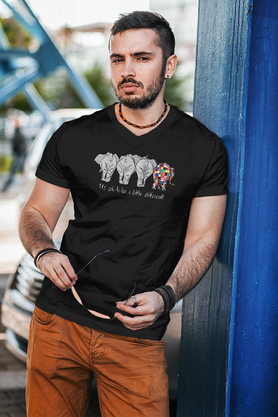Elephant it's ok to be a little different shirt unisex