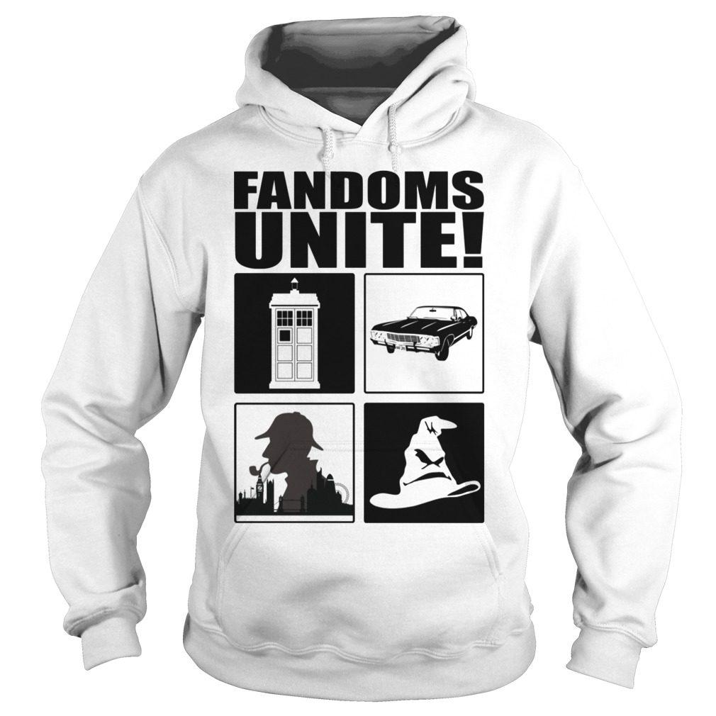 Fandoms Unite – Dr Who – Supernatural Shirt hoodie