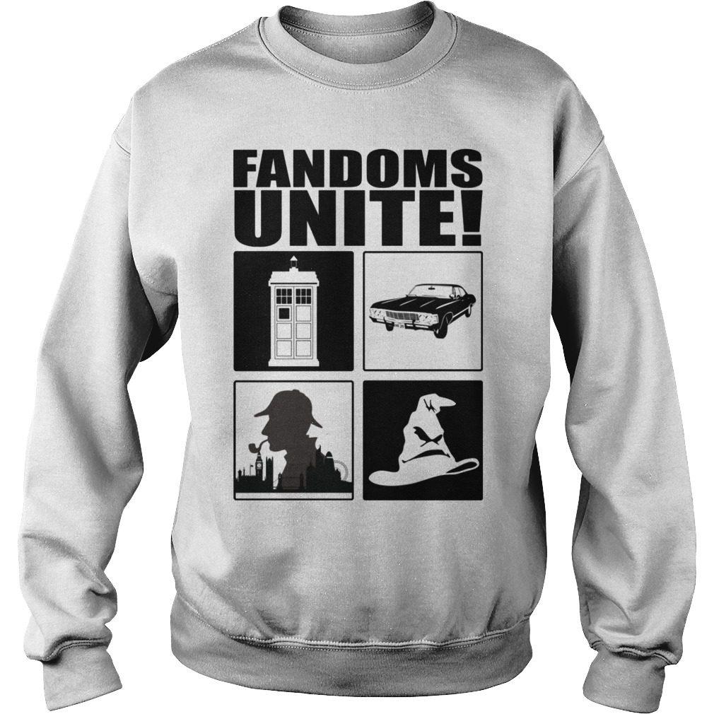 Fandoms Unite – Dr Who – Supernatural Shirt sweater