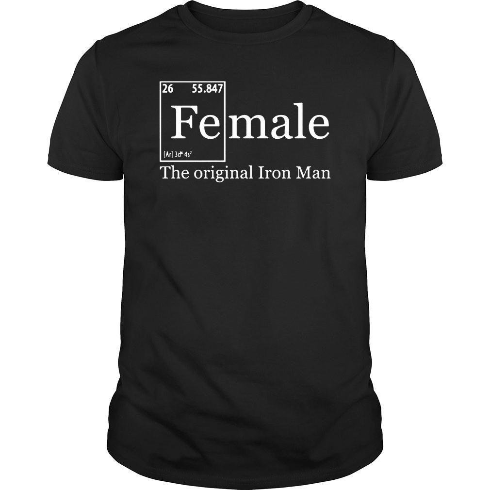 Female the orignal Iron man shirt