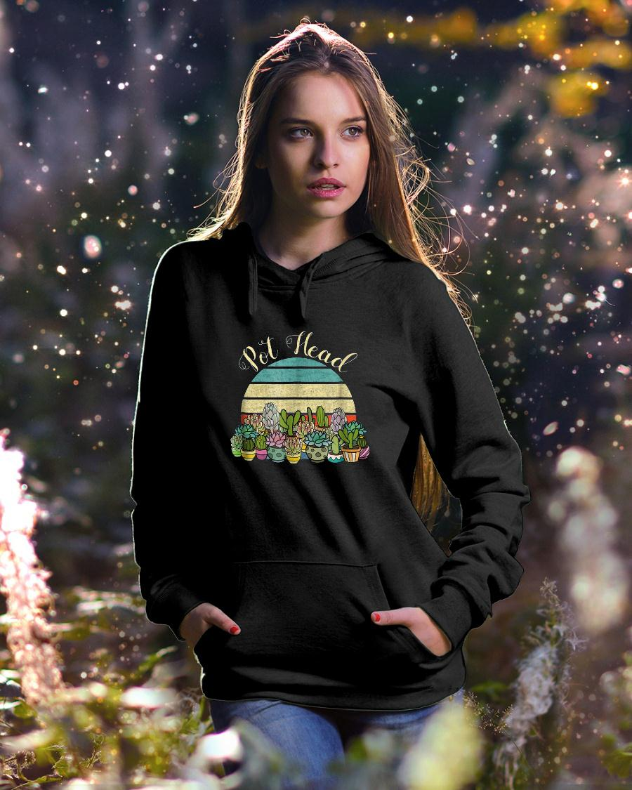 Funny PotHead with Succulents Cactus Stone Flowers TShirt hoodie unisex