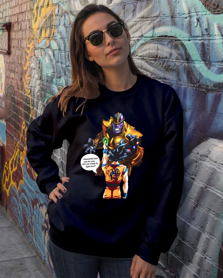 Goku vs Thanos shirt sweater official