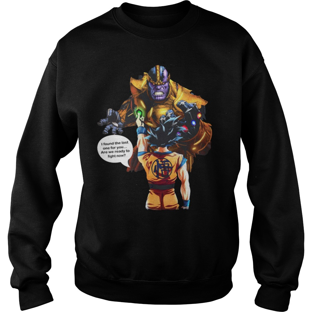 Goku vs Thanos shirt sweater