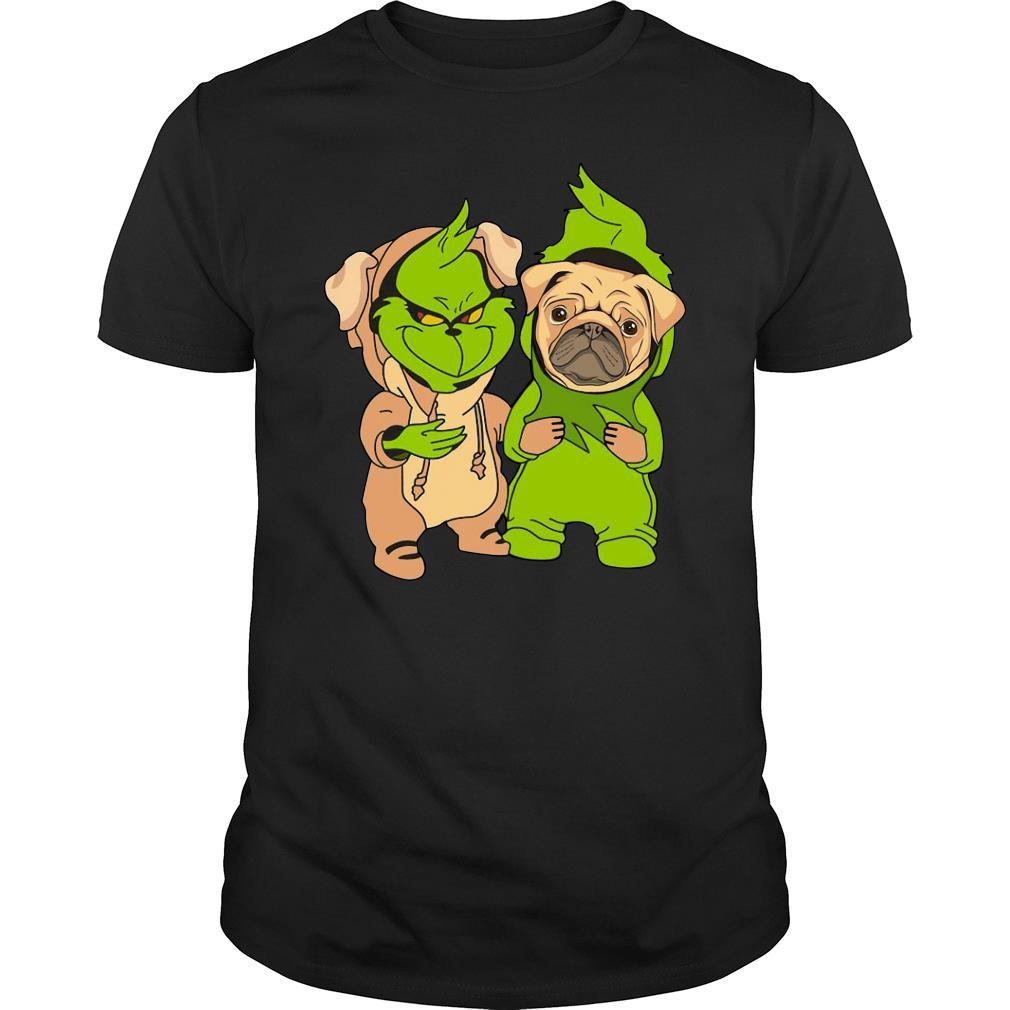 Grinch and pug shirt