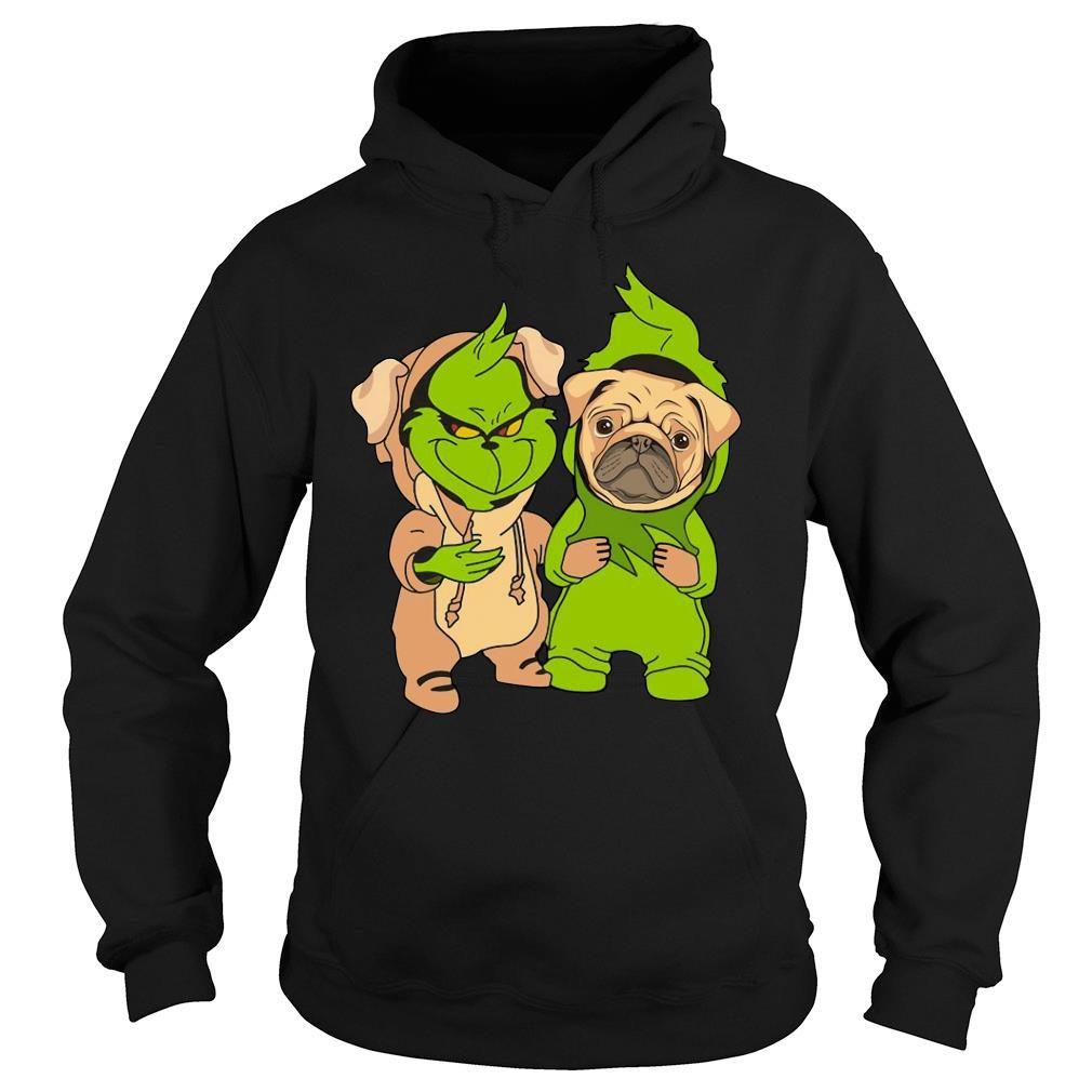 Grinch and pug shirt hoodie