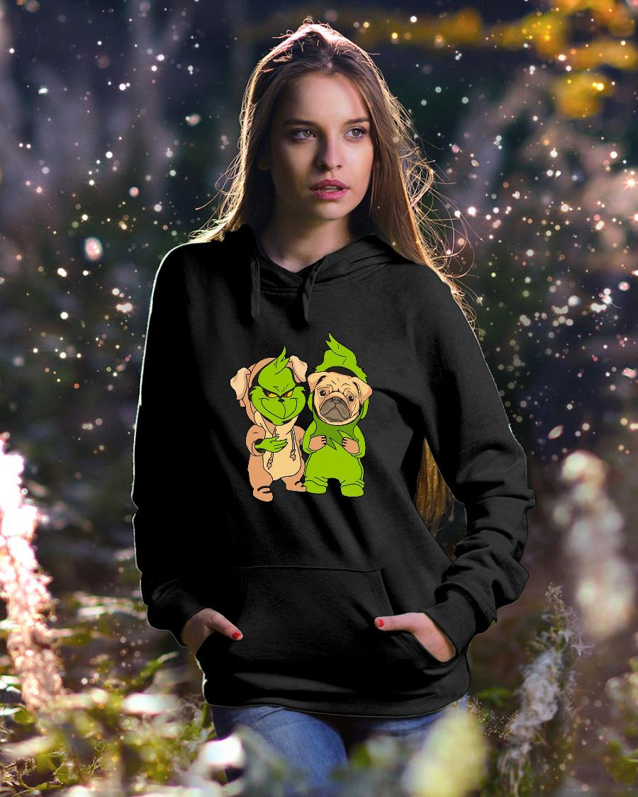 Grinch and pug shirt hoodie unisex