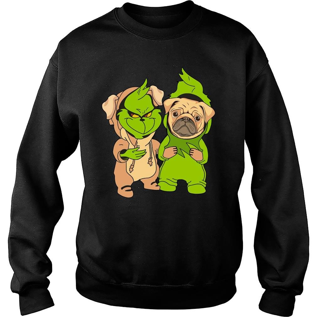 Grinch and pug shirt sweater