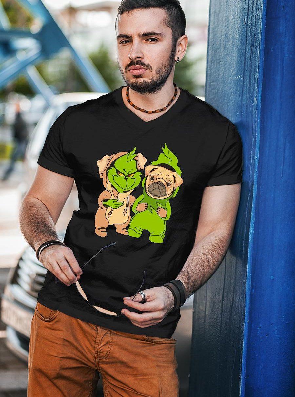Grinch and pug shirt unisex